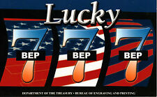 """Lucky """"7's"""" , Unc 2006 $1, 3 - 777's   in the Serial #, from the BEP (T-160)"""