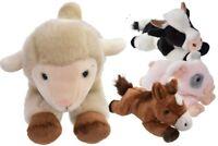 30cm Cute Soft Plush Lying Down Farm Animals Stuffed Toy Toddler Gift Brand New