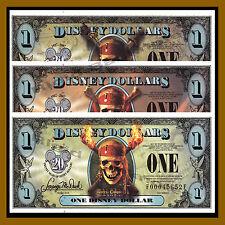 "Disney 1 Dollar Matching Set, 2007 Series ""FB, FE, FF"" Pirates of the Caribbean"