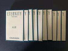 10 X CALVIN KLEIN eternity for Men air EDP eau de parfum sample spray 0.04 oz