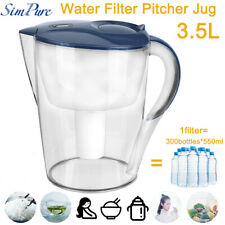 3.5L Water Filter Pitcher for Clean Tasting Drinking Water Remove Chlorine,Metal