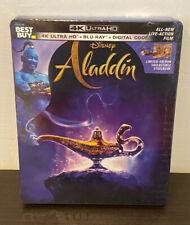 Disney's ALADDIN Best Buy Exclusive 4K Steelbook (UHD/Blu-Ray/Digital) RARE NEW
