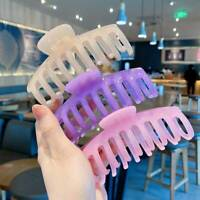 Women Hair Clip Claw Tough Colorful Plastic  Hair Clamps Crab Hair Accessories
