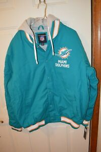 G-lll Miami Dolphins Super Bowl Champion Coat With Hood XL