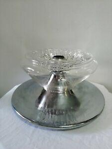 Lampadario lampada sospensione Mazzega vetro di Murano acciaio 1970 space age
