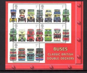2001 GB DOUBLE DECKER BUSES Miniature Sheet MS2215 MNH