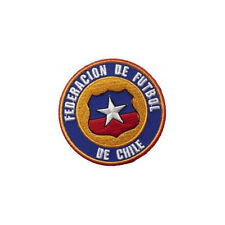 CHILE FEDERACION DE FUTBOL FIFA CUP IRON-ON PATCH CREST BADGE 3 INCH IN DIAMETER