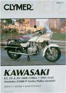 CLYMER Repair Manual, Kawasaki Z1000P Police, KZ, ZX, ZN 1000-1100cc, 1981-2002