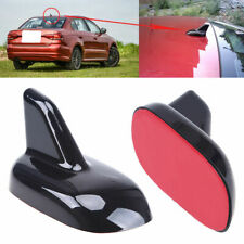 1x Black Roof Shark Fin Antenna ABS Decoration Sticker UniversalFor VW Audi