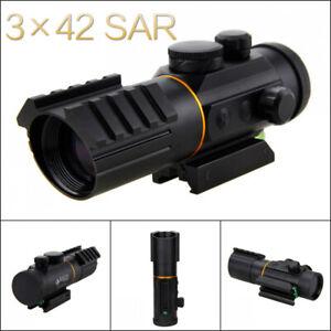 3x42SAR Red Dot Sight Scope 5MOA Fit Picatinny Rail Mount 11 / 20mm Rifle Scopes