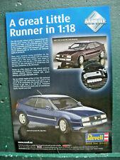 Volkswagen Corrado VR6 2.9 litre information Model Car Toy advertisment Revell