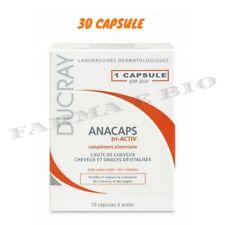 DUCRAY ANACAPS TRI-ACTIV -30 capsule CADUTA CAPELLI NUOVA CONFEZIONE+CAMPIONCINI