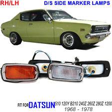 DATSUN 510 120Y B210 240z Side Marker Lights 2x Clear 2x Amber RH LH Wire Bulb
