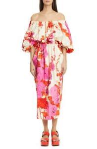 Dries Van Noten Dayna Floral Off-the-Shoulder Midi Dress size XS,S,M,L