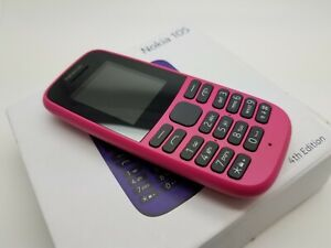 Boxed NrMint Nokia 105 Mobile Phone 4MB - Pink/Black (Unlocked) (Single SIM)