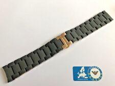 Emporio Armani AR5905 Watch Strap Black With Clasp Rubber Steel