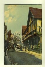 tp6847 - Worcs - Some Old Houses in Friar Street in 1907, Worcester - Postcard