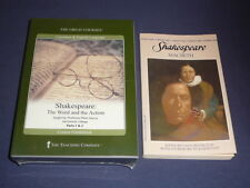 Teaching Co Great Courses DVDs       SHAKESPEARE  WORD and ACTION    new + BONUS