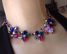 True Betsey Johnson Necklace Jewel Toned Rhinestone Butterfly Pendant