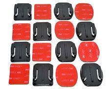 8x Base Plana & Curvo 3 M Kit De Montaje almohadilla adhesiva para Cámara GoPro 4 3+ 3 2 1