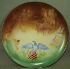 vintage old painting by H Hila plate We the People Bicentennial 1776-1976 eagle