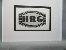 H.R.G. Britain     Car Emblem Decal by Artist Color Illustration Exhibit