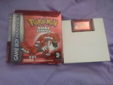 Pokemon Ruby for Gameboy Advance - PAL - Boxed - Needs new battery