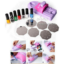 Nail Art Color Printing Machine DIY Polish Easy Stamp Template Tools Kit Set