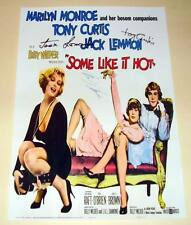"""SOME LIKE IT HOT CAST X3 PP SIGNED POSTER 12""""X8"""" MONROE"""