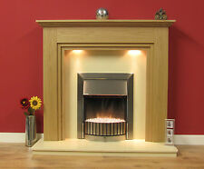 "NEW ENGLISH MADE MIDDLEMORE FIRE SURROUND 48"" FINISHED IN NATURAL OAK"