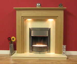 """NEW ENGLISH MADE MIDDLEMORE FIRE SURROUND 48"""" FINISHED IN NATURAL OAK"""