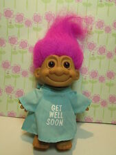 "GET WELL SOON IN HOSPITAL GOWN - 5"" Russ Troll Doll - NEW w/OUT FOOT STICKER"