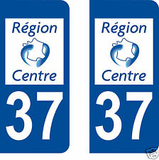 stickers autocollants plaques immatriculation auto Département Indre et Loire 37
