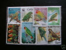 TIMBRES OISEAUX / PERROQUETS : 25 TIMBRES TOUS DIFFÉRENTS / BIRDS STAMPS