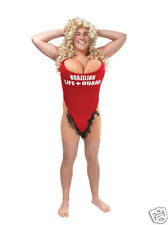 HAIRY MARY SCARY RED LIFEGUARD OUTFIT FOR MEN FANCY DRESS