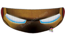 Iron Man Helmet Visor Sticker Iron Head Full Shield Decal Motorcycle Tint Eyes +