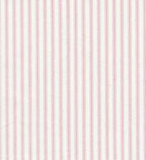 Pink Ticking Stripe Fabric BY THE YARD NEW! Pillows, Bedding, Quilts Covington