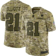 64f4ce5384d Nike Salute to Service Dallas Cowboys Ezekiel Elliott #21 Limited Jersey  Size S