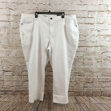 Vera Wang capris womens 22W cropped jeans denim New white stretch mid rise A4