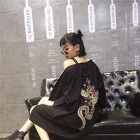 Japanese Women Men Embroidery Kimono Coat Jacket Cardigan Retro Top Dragon Loose