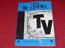 """REVISTA LAS ESPECIFICACIONES DE LA CINE Nº118 # ABRIL 1961 """"TV"""" SABBAGH EO 1rst"""