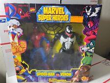 """Spider-Man Vs Venom 10"""" Fully Poseable Marvel Super Heroes ToyBiz Legends"""