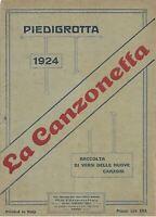 PIEDIGROTTA 1924 LA CANZONETTA  RD01