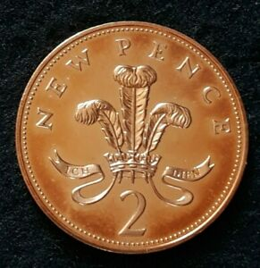 1974 Elizabeth II – 2p Two Pence Proof Coin - Not released for circulation
