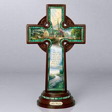 Irish Blessing Cross Figurine - Thomas Kinkade - Bradford Exchange