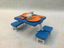 Re-ment dollhouse miniature outdoor folding table and chair picnic utensils 2006