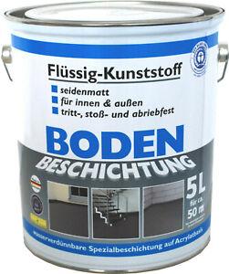 (GP.6,60€/L) 5L Wilckens Bodenbeschichtung Flüssig Kunststoff Farbe Betonfarbe