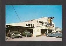 POSTCARD:  ORANGE BLOSSOM GROVES - LARGO, FLORIDA - 1950's TRUCKS, AUTOMOBILES