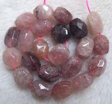 """About 12x14mm Natural Lemon Quartz Faceted Freeform Loose Beads 15.5/"""""""
