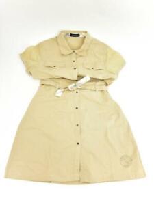 "BURBERRY Girls: Beige, Logo & ""Nova Check"" Short Sleeve Dress Sz: 12 Years"